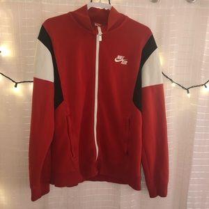 Red Zip Up Nike Jacket